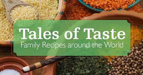 Colorful grains shown on the Tales of Taste cookbook