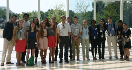 A group of Community of Scholars students at USIP.