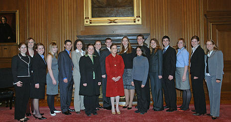 WPI Students with Supreme Court Justice Ruth Bader Ginsburg