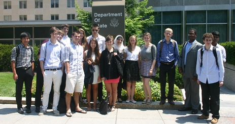 Community of Scholars students visiting the Department of State.