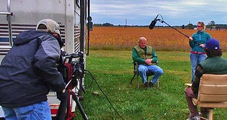 SOC students film the 2009 edition of Ecoviews at Hutchinson Farms. The program aired on Maryland Public Television, the result of a long-standing partnership with the station. The 2008 edition won a regional Emmy.