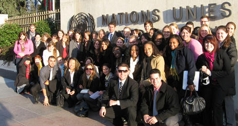 Students at the United Nations Office in Geneva
