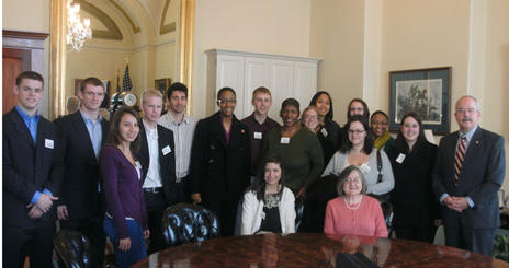 The Justice class with Terrance Gainer, the Senate Sergeant at Arms