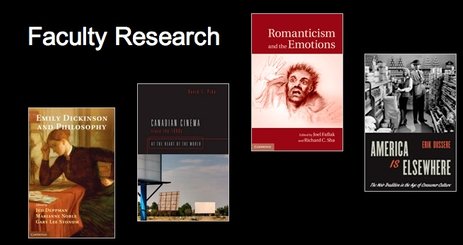Recent publications by literature faculty