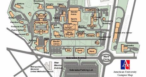 American University Main Campus Map