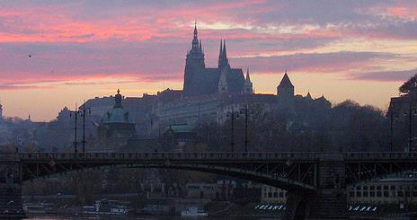 Prague cityscape, photo taken by a student traveling in the AU study abroad program