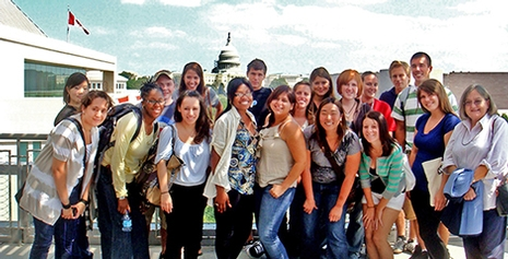 Summer Internship Program students at the Newseum