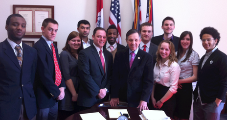 Islam and World Affairs Program participants met with Congressman Dennis Kucinich.<br />