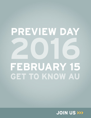 Preview Day 2016 on February 15. Get to know American University. Join us.