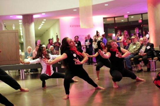 Dance performance in the Katzen Arts Center Rotunda