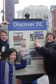 Students discovering DC and finding their way around the city.