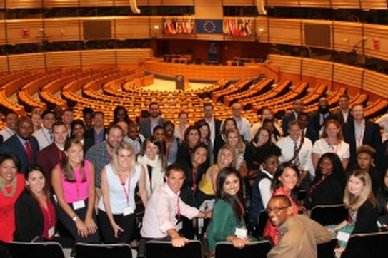 MBA@American students at the European Parliament in Brussels.