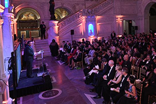 attendees at FD200 gala in library of congress