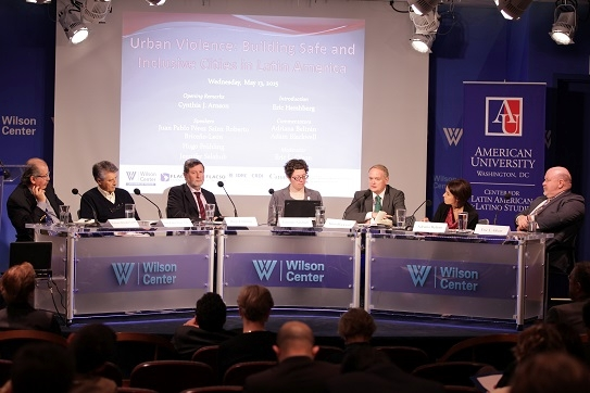 Panelists at a presentation at the Wilson Center