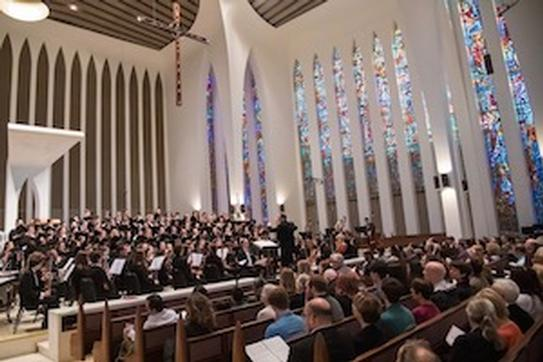 Halevi: A Choral Symphony, performers at the National Presbyterian Church