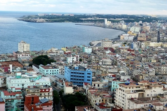 Aerial view of downtown Havana