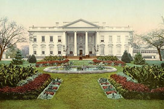white house and gardens