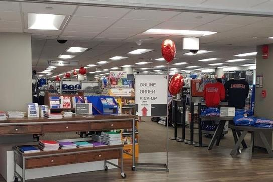 New LED lights in Campus Bookstore