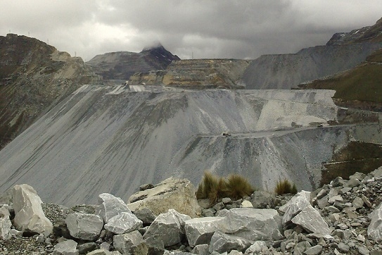 Overcast day at a mine in Peru