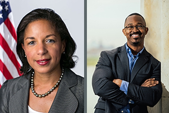 Ambassador Susan E. Rice and radio host Joshua Johnson