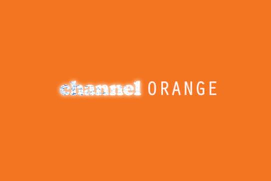 Album artwork from Frank Ocean album Channel Orange. Text on a plain background with the words channel orange