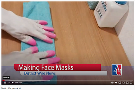 district wire news story on making facemasks