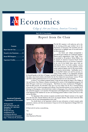 Econ Newsletter Fall 2014