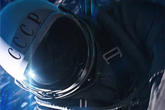 Astronaut in space; detail from The Spaceman film poster.