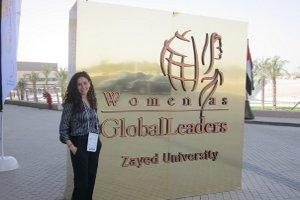 Aliyah Phillips at Women as Global Leaders Conference.