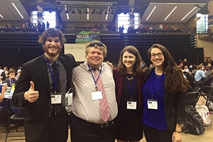 SPA undergraduates attend the prestigious NCUR conference in Asheville, North Carolina.