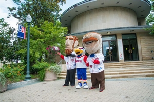 Abe, Clawed, and Teddy are gearing up for AU Night at Nationals Park on Friday, August 30.