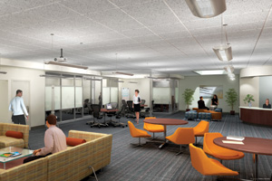 Photo: An artist's rendering of the Graduate Research Center.
