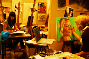 Student art studio in the Katzen
