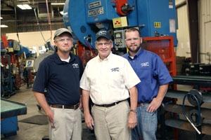 The Hurst family at Phoenix Specialty. From left to right: Russel Hurst, Robert Hurst, Jr, and Daniel Hurst.