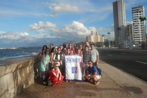 Kogod students on the 2016 Cuba study abroad trip.