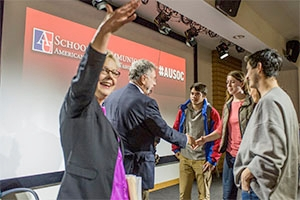 Martin Baron, a news editor portrayed in the movie Spotlight, appeared at AU last week.