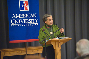 Marian Wright Edelman of the Children's Defense Fund delivers the Poynter Lecture.