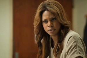 """Orange Is the New Black"" star Laverne Cox in character as Sophia Burset."