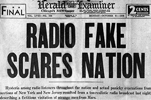 A 1938 newspaper headline reads