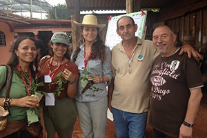 Garrett Graddy-Lovelace in Cuba with an international delegation of farmers and agrarian leaders.