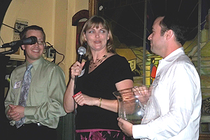 Cochairs from the Class of '99 attended the Ten Year Reunion at the 4Ps in Cleveland Park.  From left: Greg Graumann, Ann Marie Sharratt, and Justin Perillo.