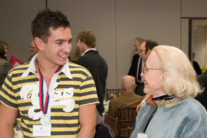 Carol Ravenal and Nick Schmalz at the Scholarship Luncheon, photo by Jeff Watts.