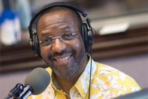 Kojo Nnamdi at his radio show.