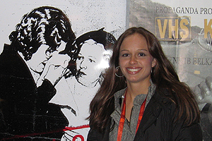 Lindsay Webster, '03, at the Sundance Film Festival.
