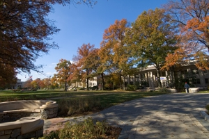 AU campus in fall