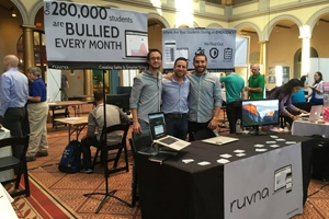 The executives from Ruvna at a conference.