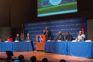 American University hosted a D.C. mayoral debate in advance of the April primary.