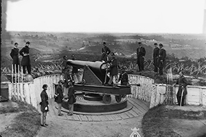 Officers of Cos. A & B, 3rd Mass. Heavy Artillery, Fort Totten. Courtesy of the National Park Service.