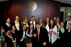 AU Mock Trial teams enjoy a successful run in 2013-2014.