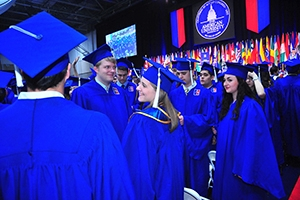 Students will hear from leaders in government, science, communications, business, international affairs, and law at American University's 2015 commencement ceremonies.